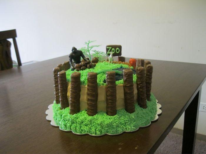 Торт-зоопарк