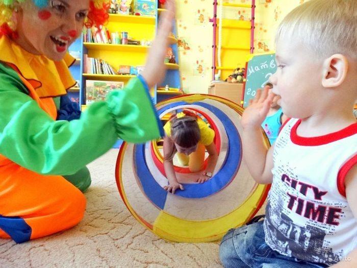 Веселые игры с клоуном