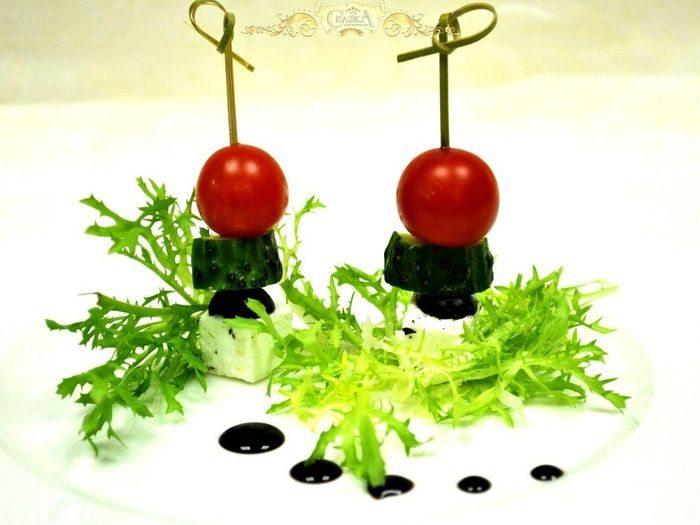 Канапе с овощами