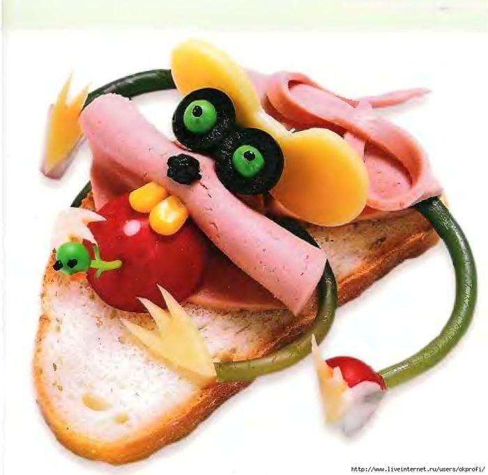 Бутерброд-мышка