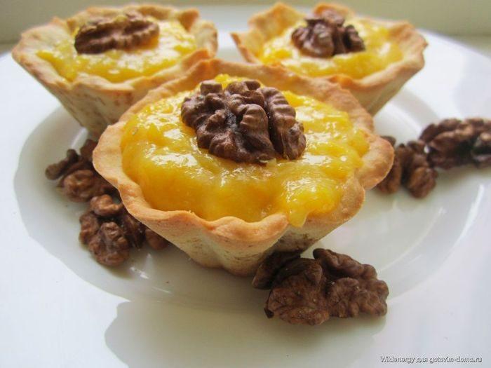 Тарталетки с апельсиновым пудингом