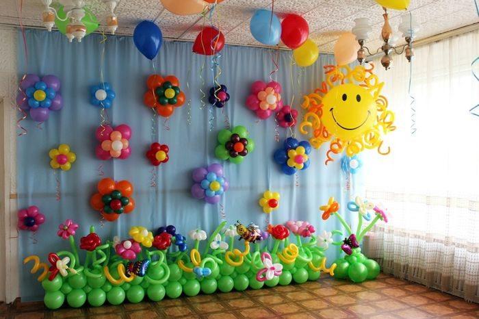 Декорации из шариков