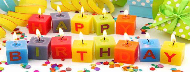 Свечи - с днем рождения