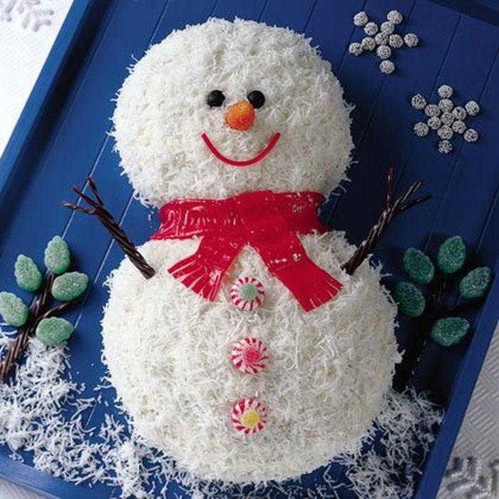Торт-снеговик