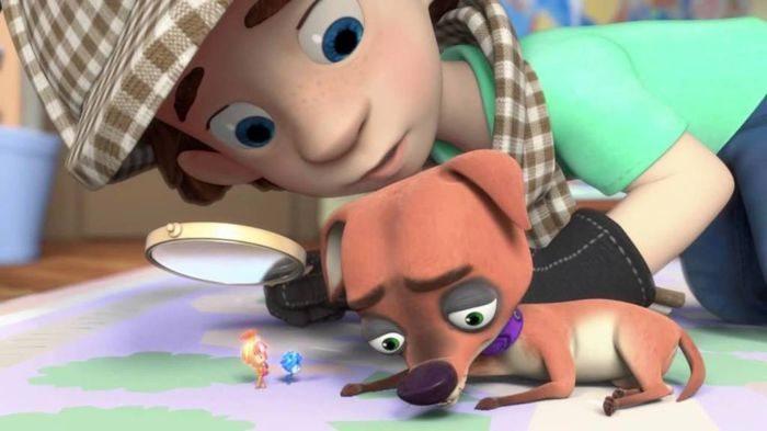 Юный сыщик с собакой