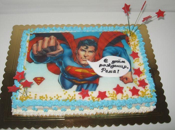Торт-супермен