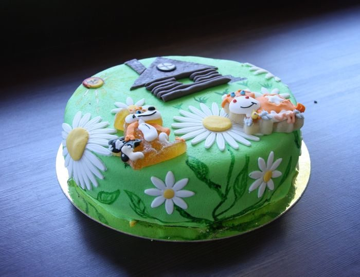 Торт-полянка