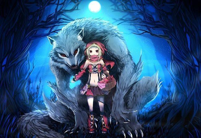 Волк и девочка
