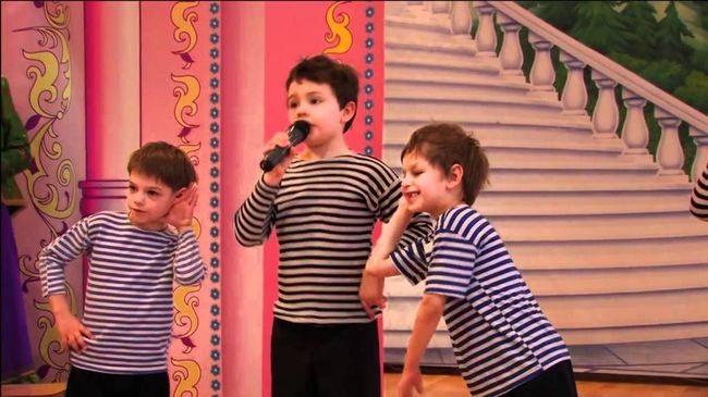 Дети поют частушки