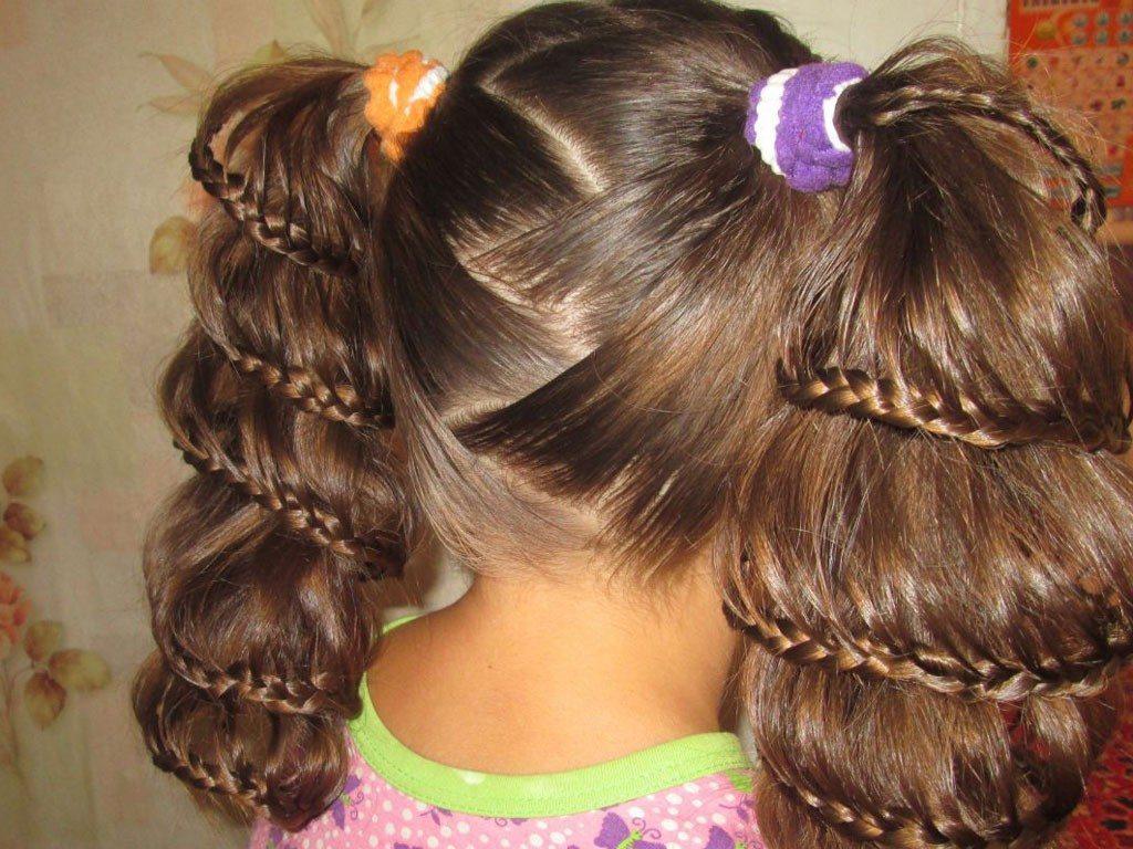 детские прически на очень длинные волосы фото