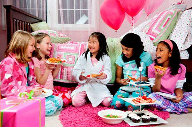 День рождения Пижамная вечеринка