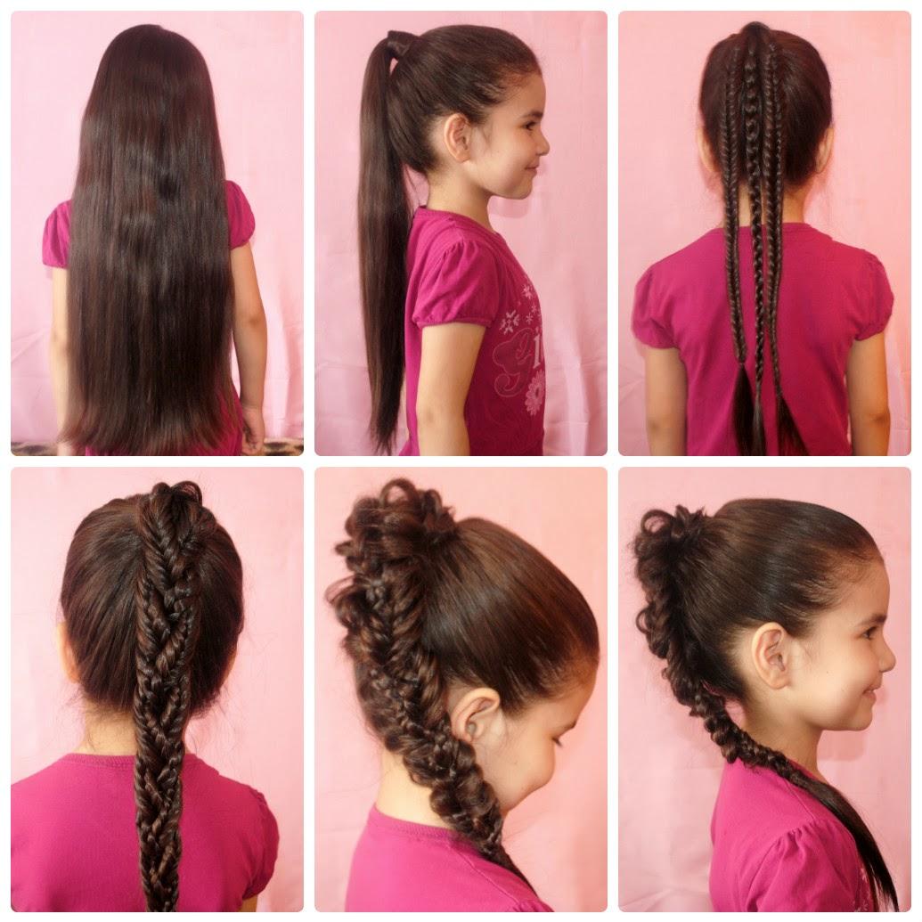 Прически для длинных волос своими руками для детей 90