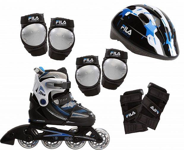 Роликовые коньки, шлем и защита
