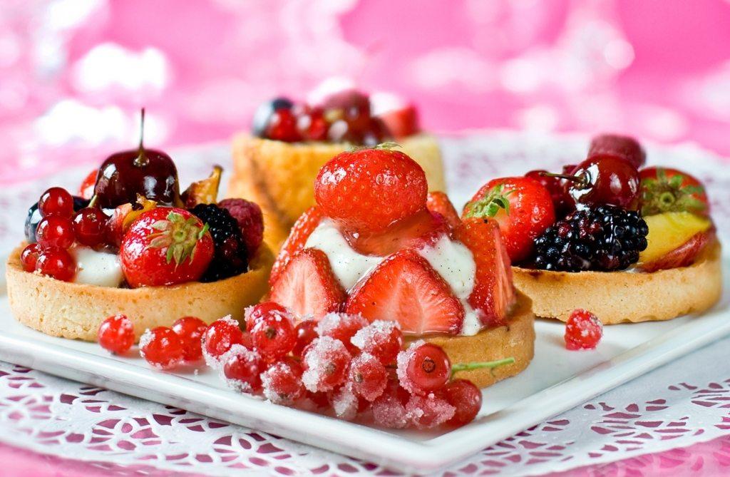 Творожно-фруктовые тарталетки