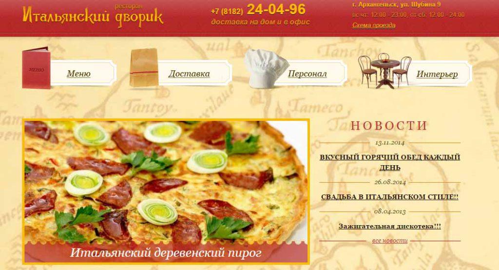 Пиццерии Архангельск