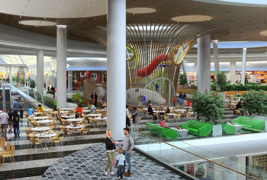 Во многих торговых комплексах есть развлекательные центры для детей