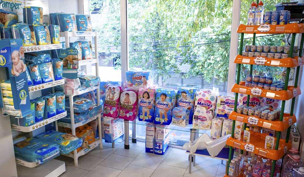 Также детские товары можно встретить в аптеках