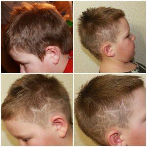Узорный выстриг для мальчика