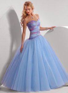 Голубое платье для выпускницы