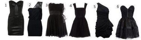 Виды черных платьев