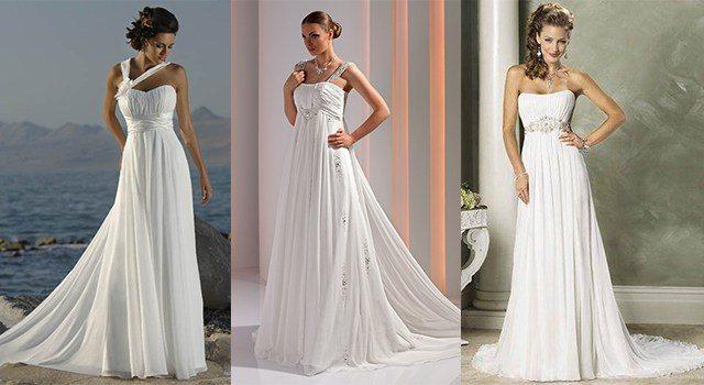 Греческое платье будет выглядеть женственно