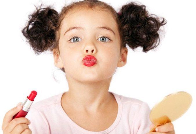 Детский макияж должен смотреться естественно