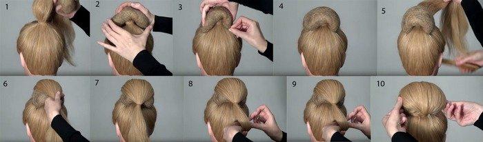 Как сделать валик для волос фото пошагово