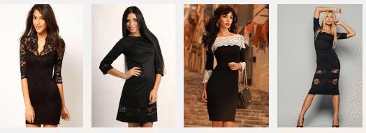 Кружевные вставки в платье