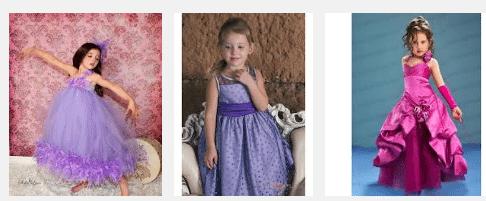 Платье в лиловых тонах