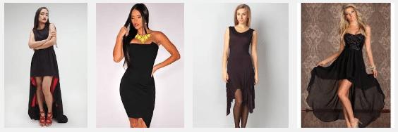 Платье с асимметричным подолом