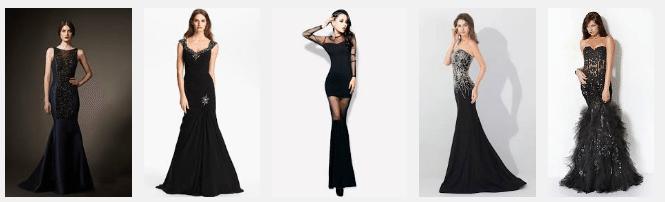 """Черное платье """"Русалка"""""""