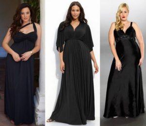 Черное платье для полных девушек