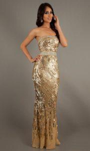 Эффектное платье-бюстье