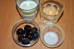 Ингредиенты для приготовления инжира с молоком