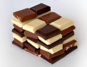 Шоколад делится на виды в зависимости от количества входящего в него какао
