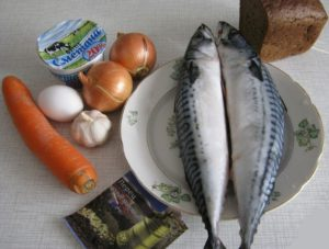 Ингредиенты для тефтель из скумбрии