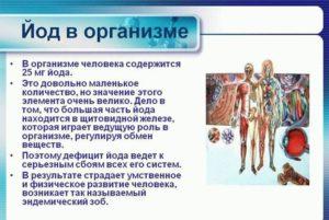 Польза йода для организма