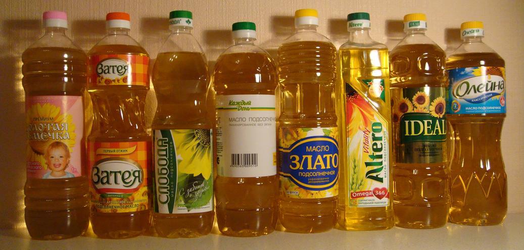 Современный рынок богат ассортиментом подсолнечного масла