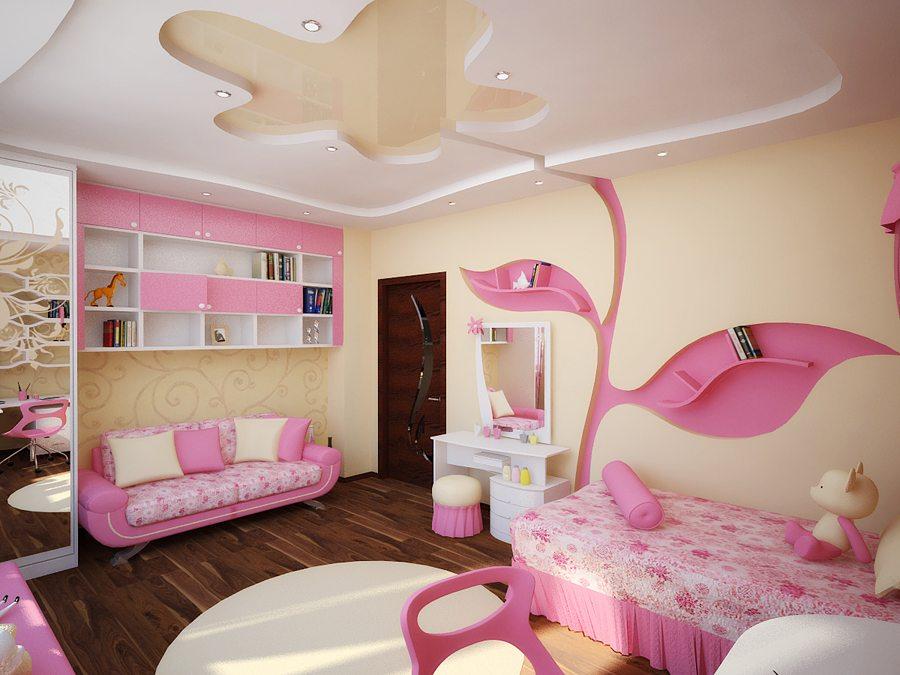 Детская комната для девочки в розовых тонах