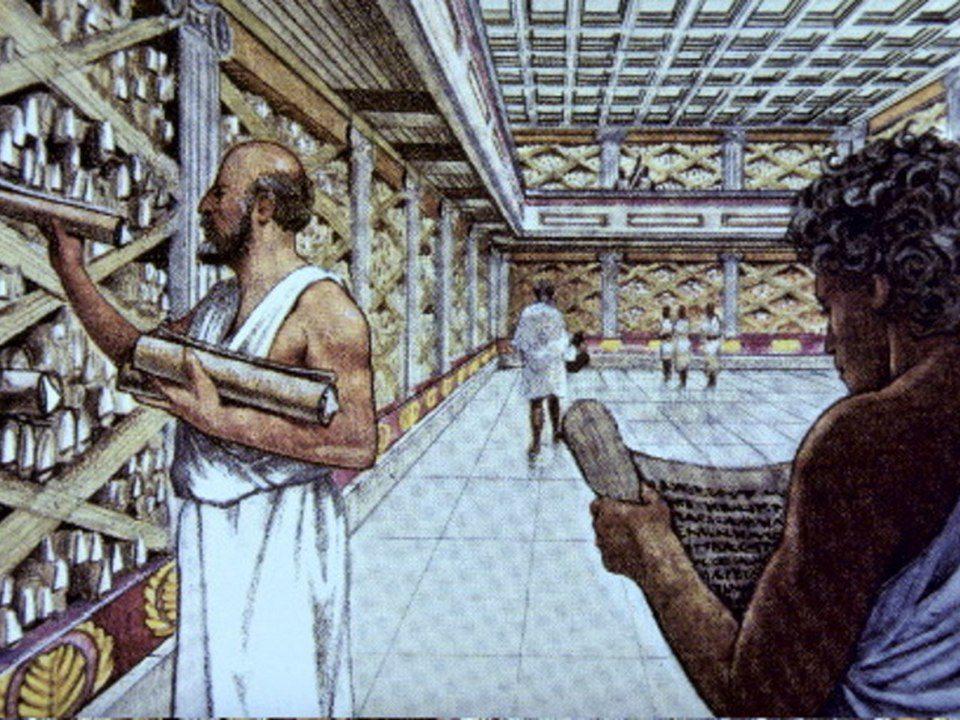 Первые библиотеки появились в Месопотамии и Египте, более четырех тысяч лет назад