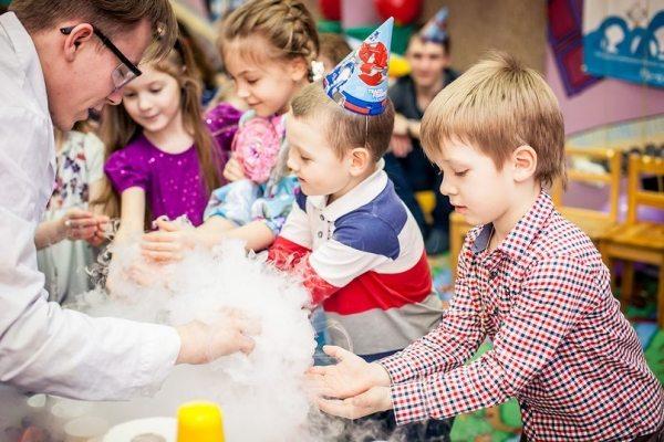 День рождение с химическими опытами