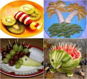 Подача фруктов на детском празднике