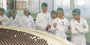 Школьная экскурсия на кондитерскую фабрику