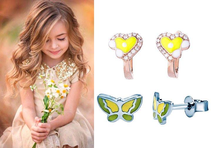 Детские сережки: как выбрать первое украшение для малышки